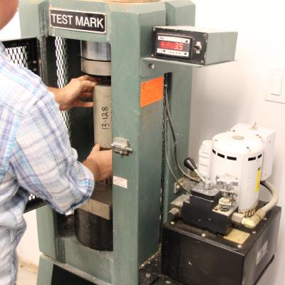 Man using a machine
