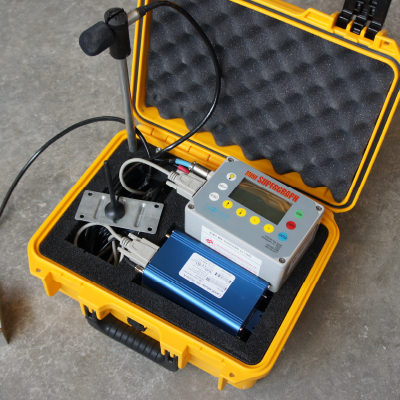 Hard case with electronic measuring instruments